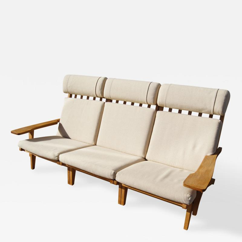 Hans Wegner Three Piece Oak Frame Sofa Model GE 375 by Hans Wegner for Getama