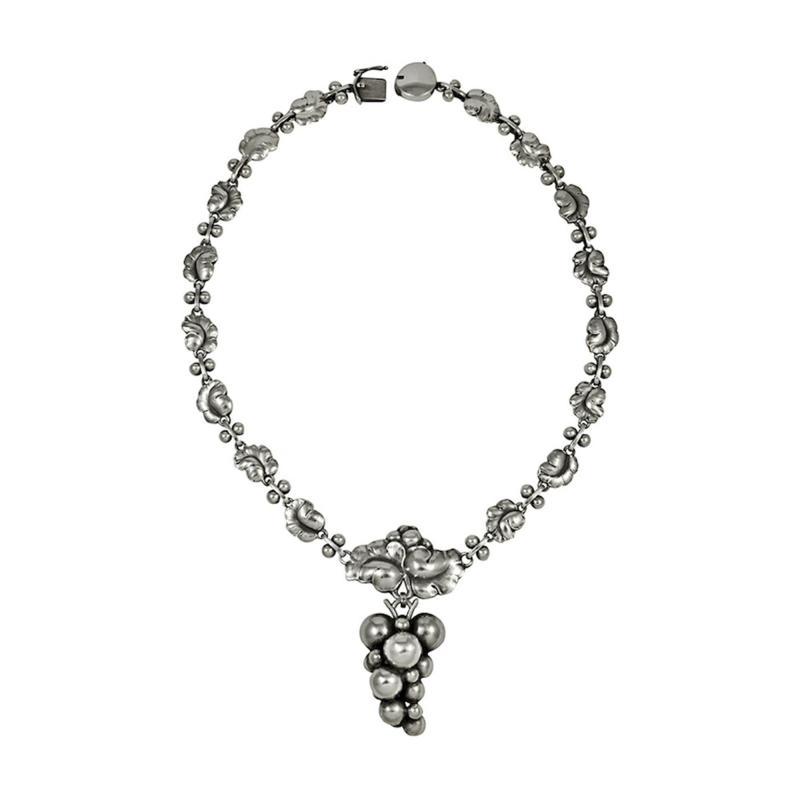 Harald Nielsen Georg Jensen Leaf Necklace No 96B