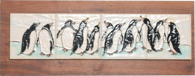 Harris Strong Harris G Strong Penguin Tile Wall Art Plaque Midcentury Modern