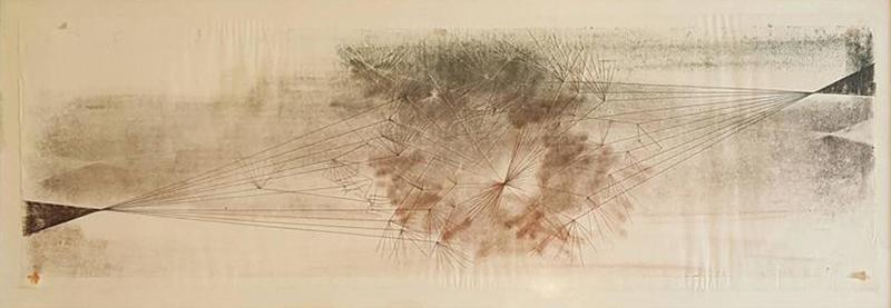 Harry Bertoia Early Harry Bertoia Monoprint Pencil Signed on Verso