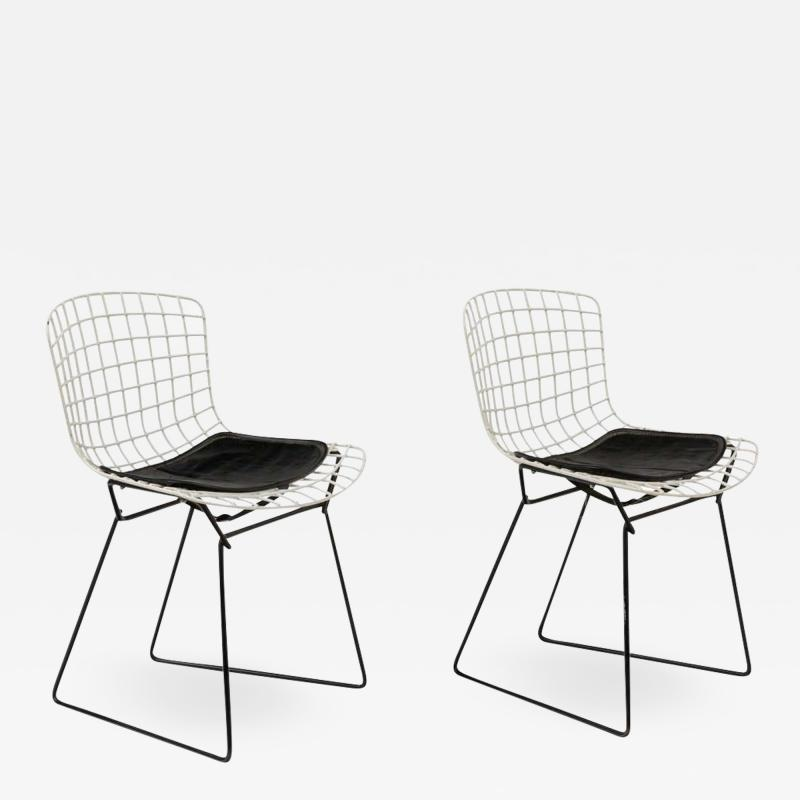 Harry Bertoia Harry Bertoia Childs Chairs in White with Original Knoll Seat Pads USA 1960s