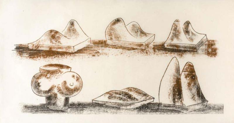 Harry Bertoia Harry Bertoia Framed Monoprint on Rice Paper