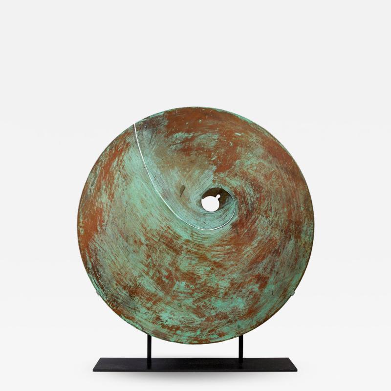 Harry Bertoia Harry Bertoia Patinated Solid Bronze Gong Sculpture