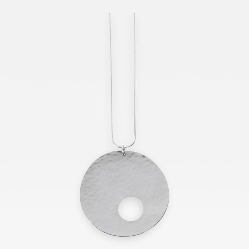 Harry Bertoia Limited Edition Sterling Silver Gong Style Pendant Designed by Harry Bertoia
