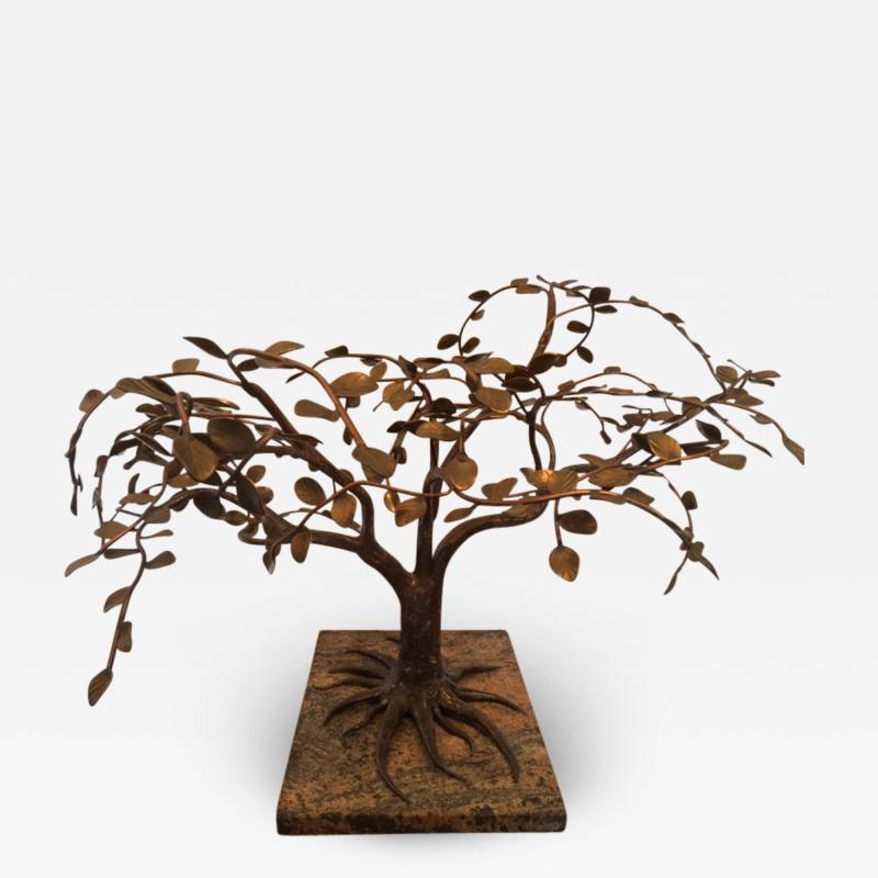 Harry Bertoia MODERNIST AND BRUTALIST BRONZE COPPER AND BRASS TREE SCULPTURE