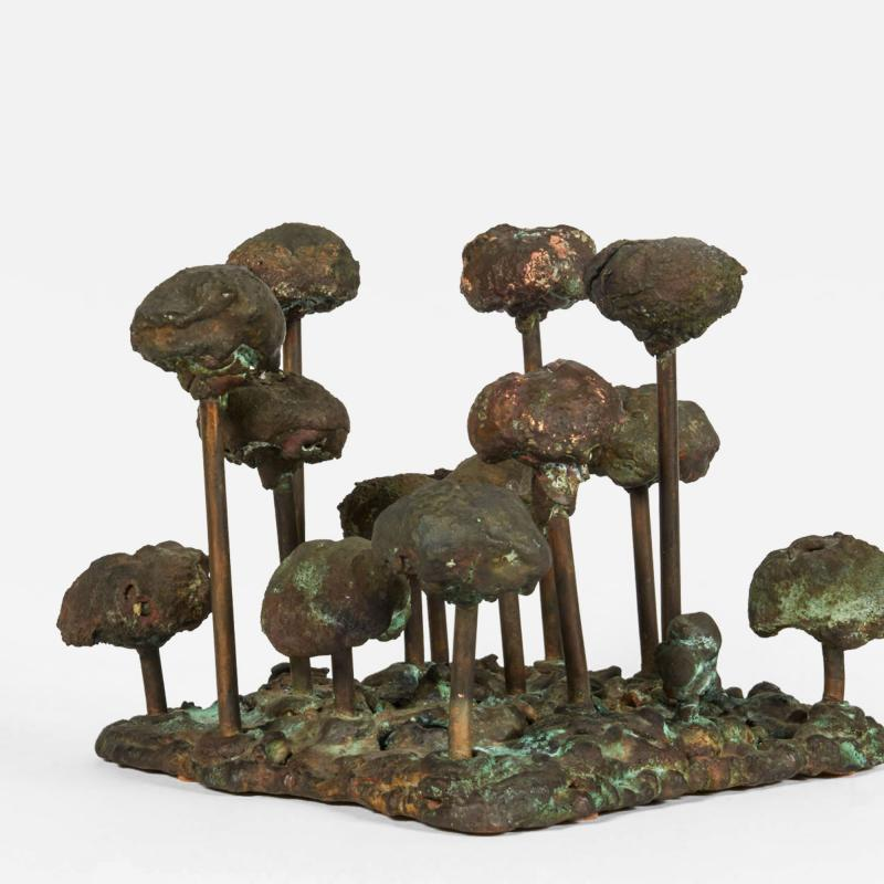 Harry Bertoia Melt Pressed Sculpture Untitled Poppies