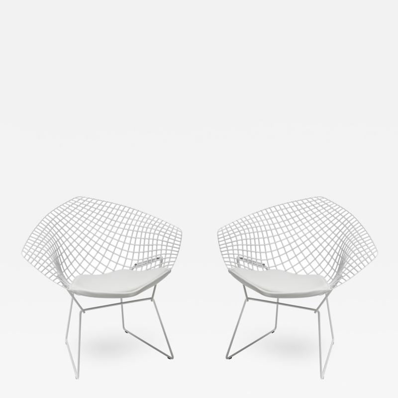 Harry Bertoia Pair of Diamond Lounge Chairs by Harry Bertoia for Knoll