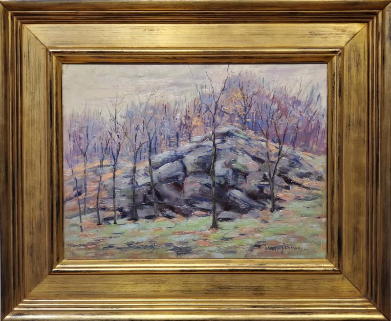 Harry W Newman Impressionist Landscape Oil Painting by Harry W Newman