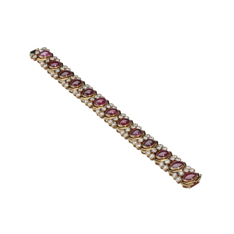 Harry Winston HARRY WINSTON RUBY DIAMOND 18KT BRACELET