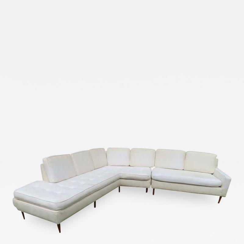 Harvey Probber Handsome Harvey Probber Two Piece Nuclear Sert Sectional Sofa Mid Century Modern
