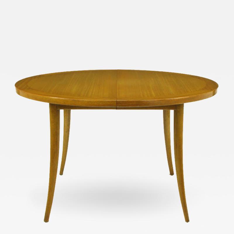Harvey Probber Harvey Probber Bleached Mahogany Saber Leg Dining Table