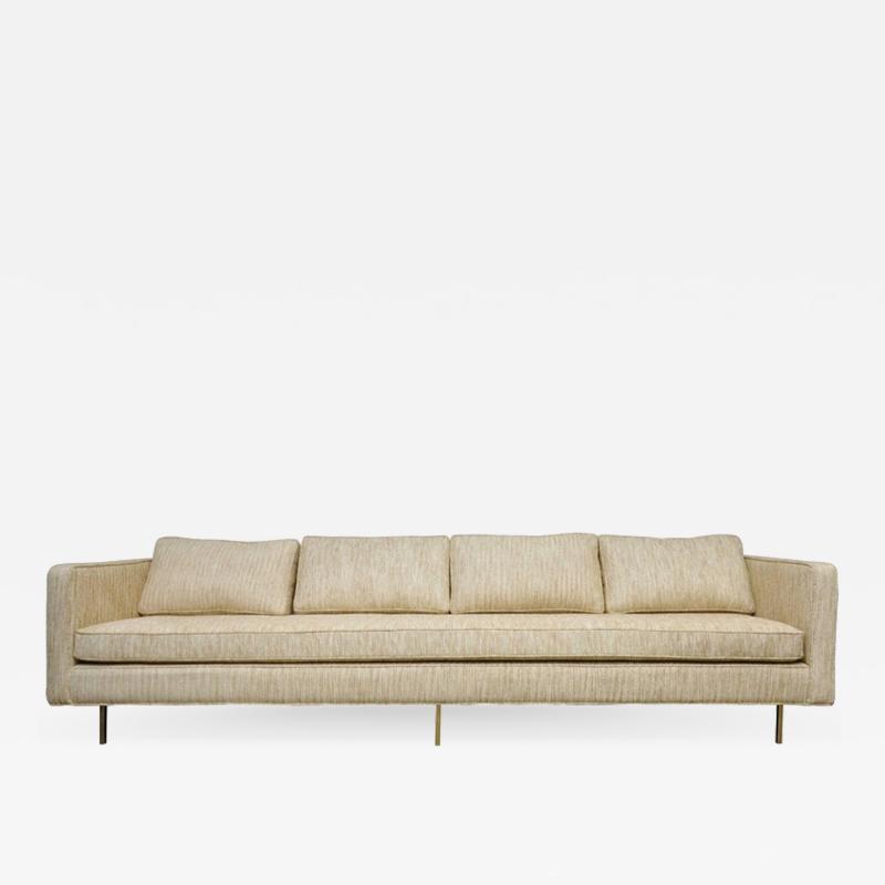 Harvey Probber Harvey Probber Even Arm Sofa on Brass Legs