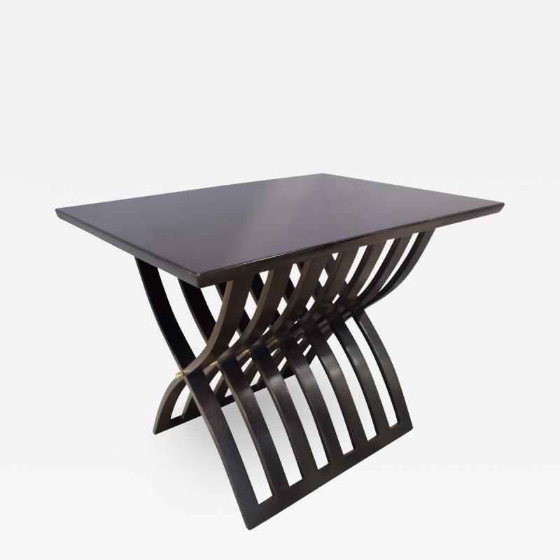 Harvey Probber Harvey Probber Sculptural Side Table with Curved Slat Base 1960s