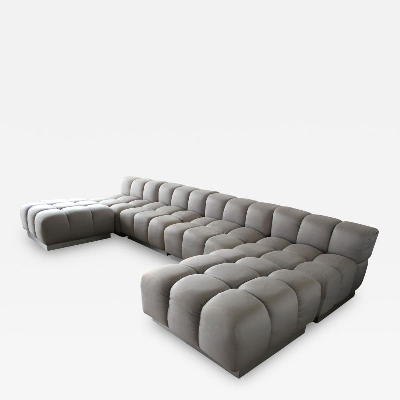 Harvey Probber Harvey Probber Sectional Deep Tufted Modular Sofa 1970s