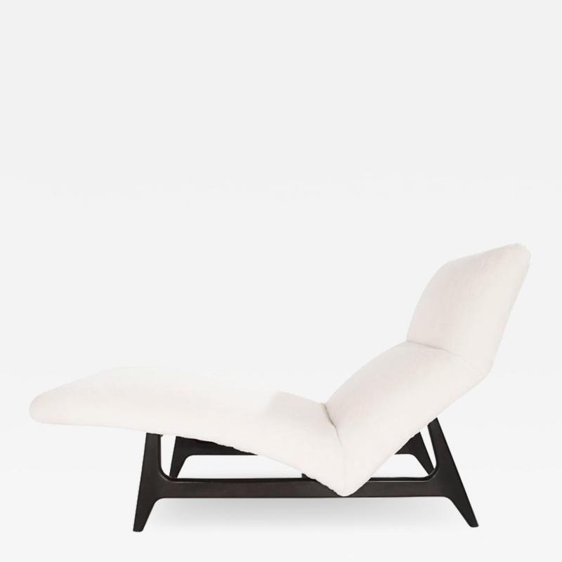 Harvey Probber Important Model 1000 Chaise Lounge in Shearling by Harvey Probber circa 1950s