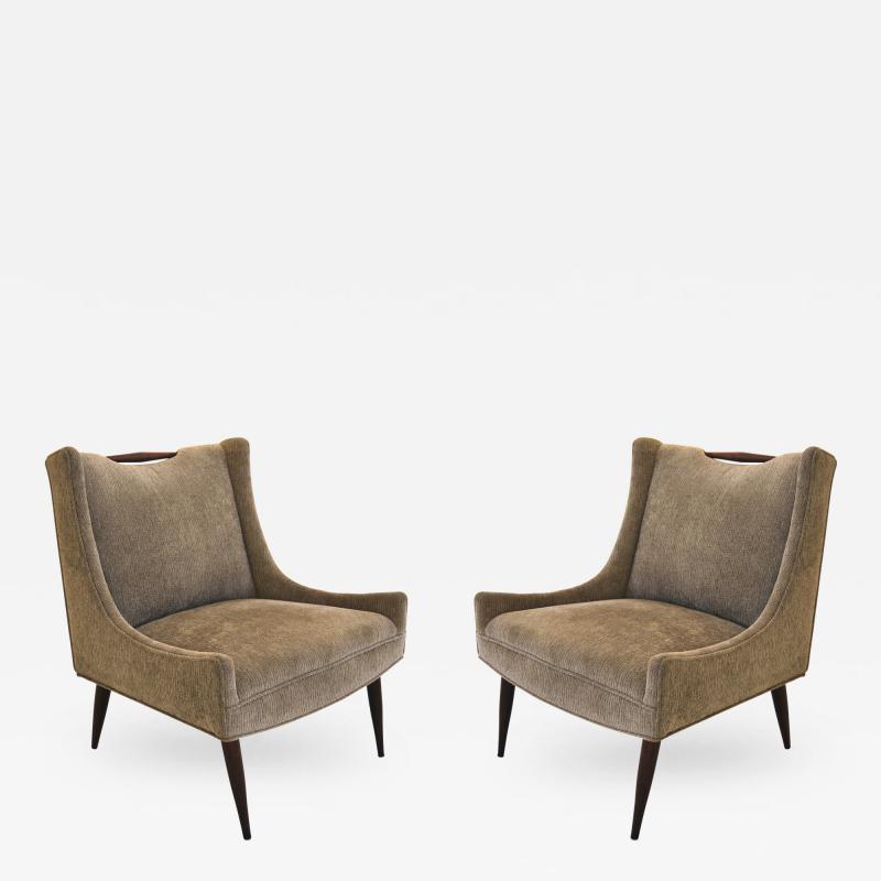 Harvey Probber Pair of Harvey Probber Slipper Chairs