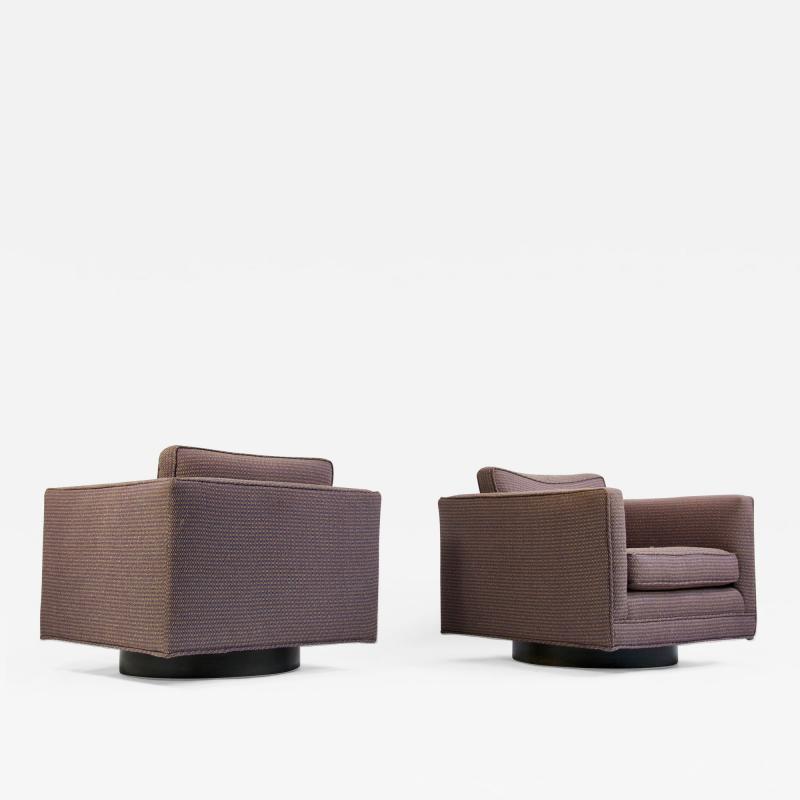 Harvey Probber Pair of Harvey Probber Swivel Lounge Chairs