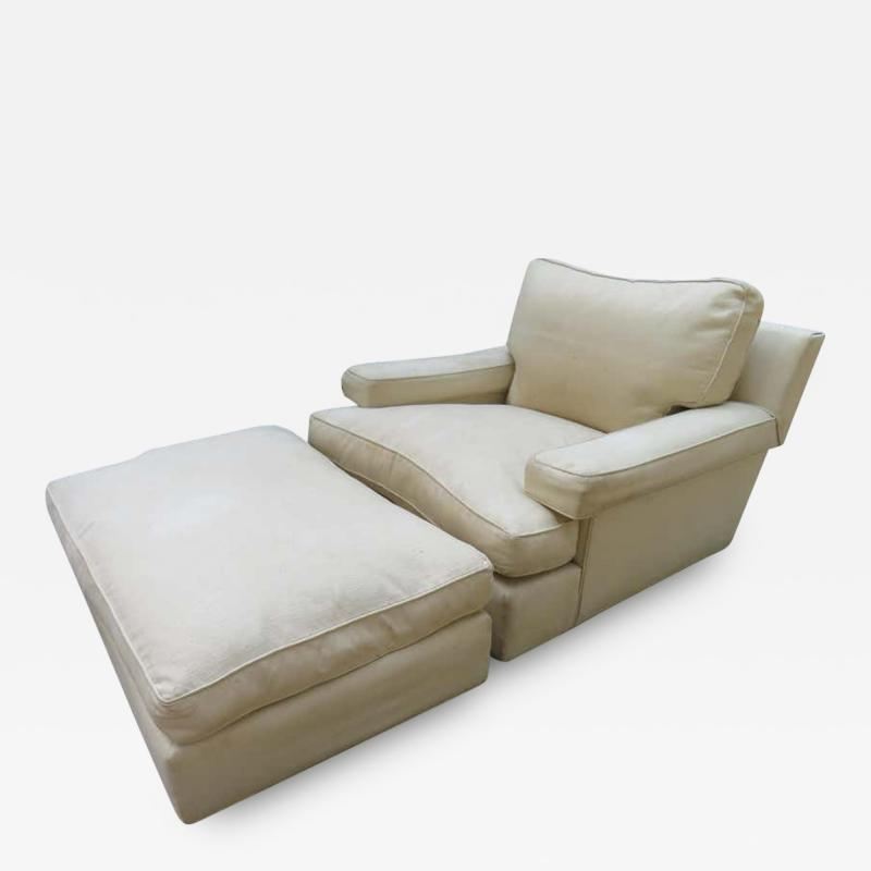 Harvey Probber Rare Pair of Harvey Probber Lounge Chairs and Ottoman Mid Century Modern