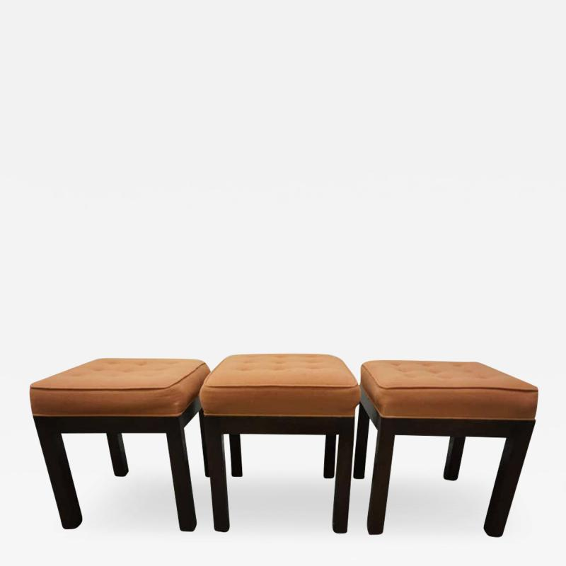 Harvey Probber Stylish Set of Three Harvey Probber Stool Bench Mid Century Modern