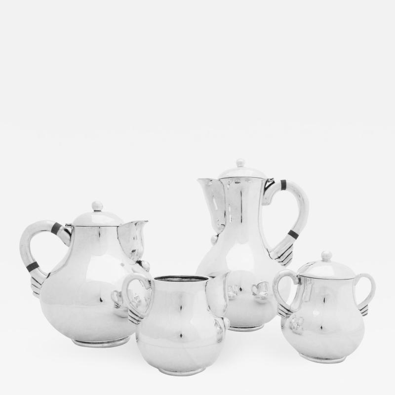 Hector Aguilar Sterling Coffee Tea Serving Set by Hector Aguilar