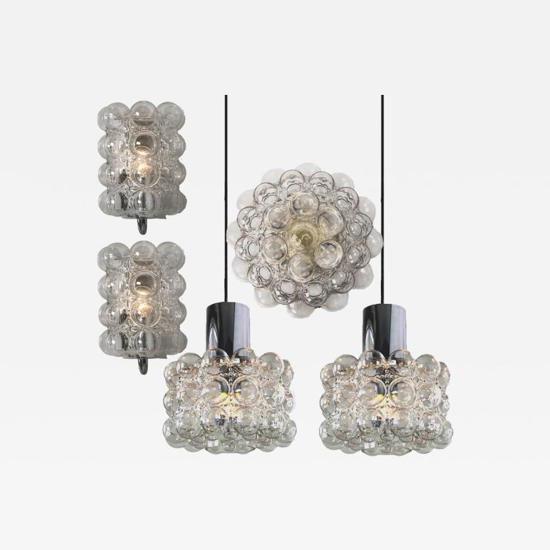 Helena Tynell Set of Four Bubble Glass Fixtures Designed by Helena Tynell for Glash tte