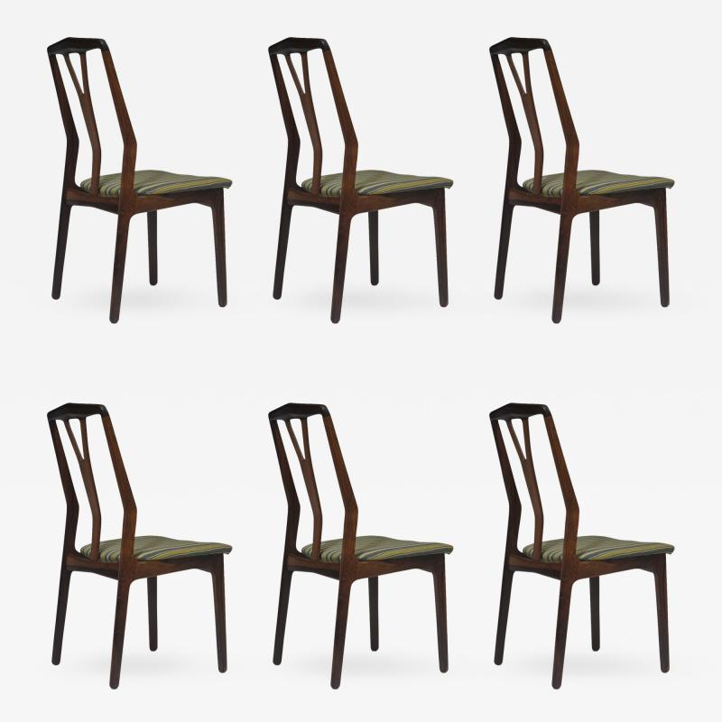 Helge Vestergaard Jensen Helge Vestergaard Jensen Attributed Danish Rosewood Dining Chairs