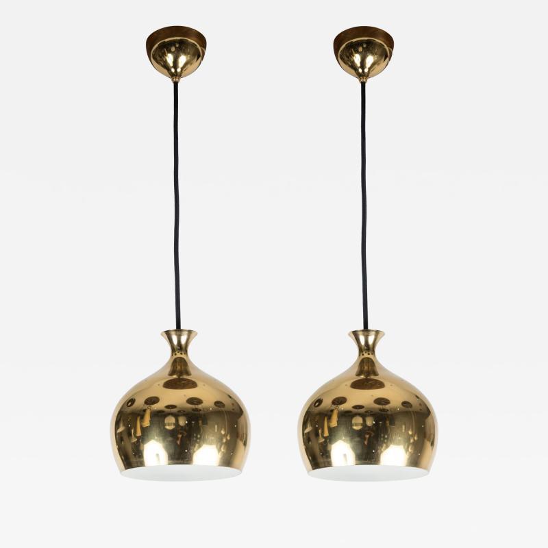 Helge Zimdal 1960s Brass Perforated Onion Pendants by Helge Zimdal for Falkenberg