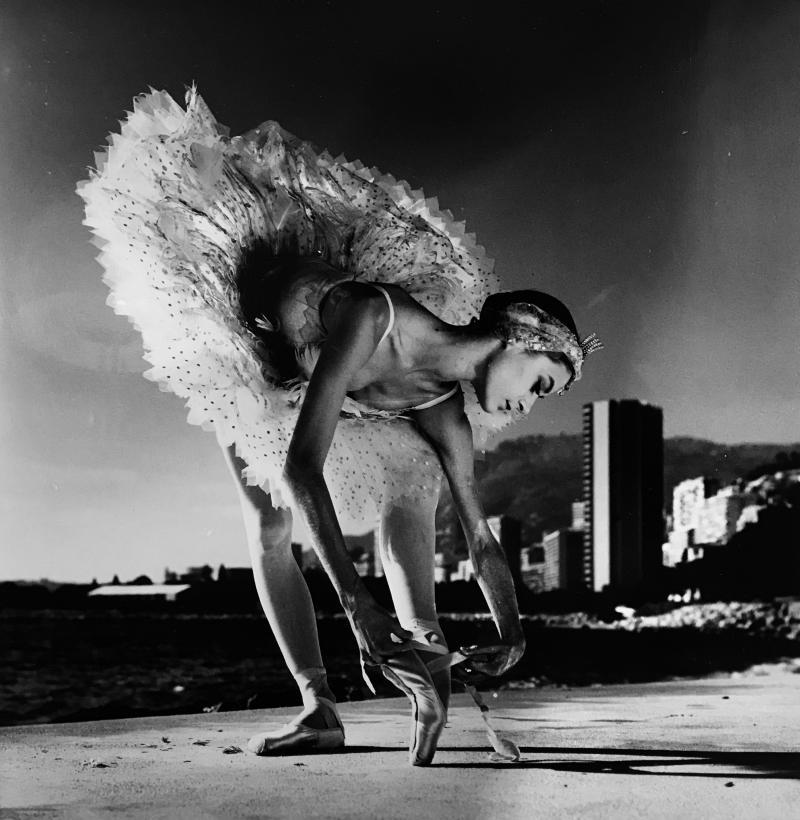 Helmut Newton Ballet Dancer Monaco 1985