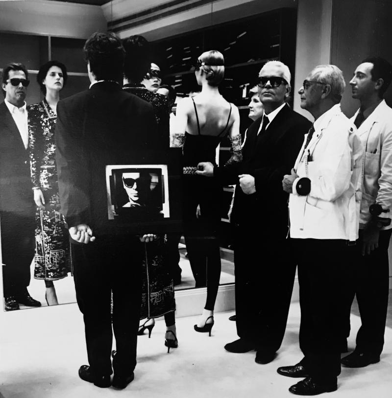 Helmut Newton Karl Lagerfeld Paris 1987