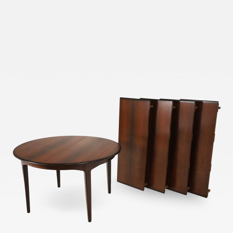 Henning Kjaernulf Large Scandinavian Modern Rosewood Dining Room Table by Henning Kjaernulf