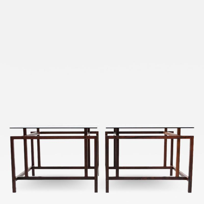 Henning N rgaard Pair of Rosewood Side Tables by Henning N rgaard for Komfort