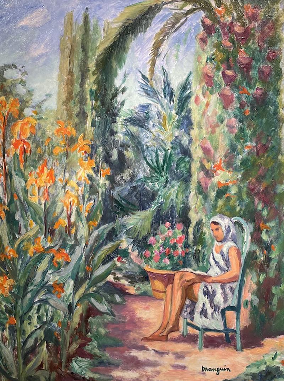 Henri Charles Manguin Odette dans le jardin de l Oustalet