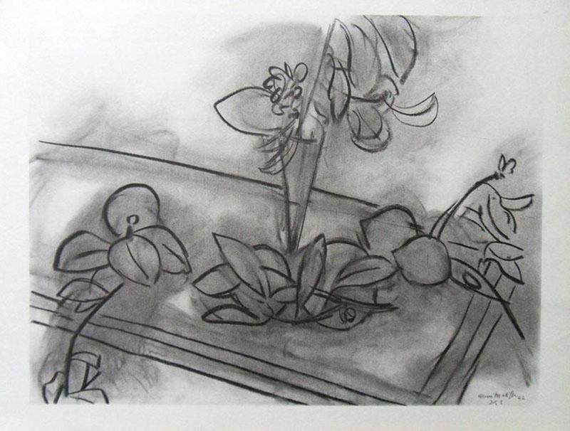 Henri Matisse After Henri Matisse Lithograph Flowers 1943