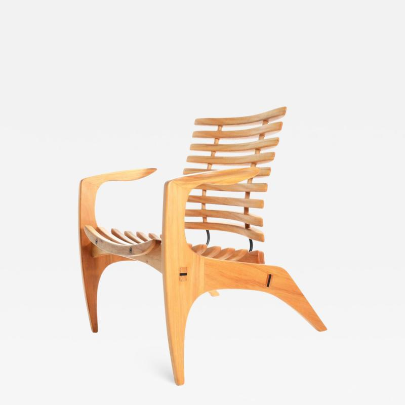 Henrique Canelas Contemporary Ella Chair by Brazilian Designer Henrique Canelas in wood