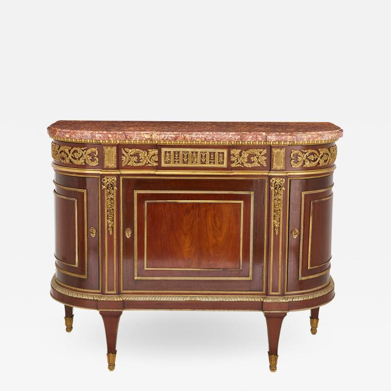 Henry Dasson 19th Century gilt bronze mahogany and marble cabinet by Dasson