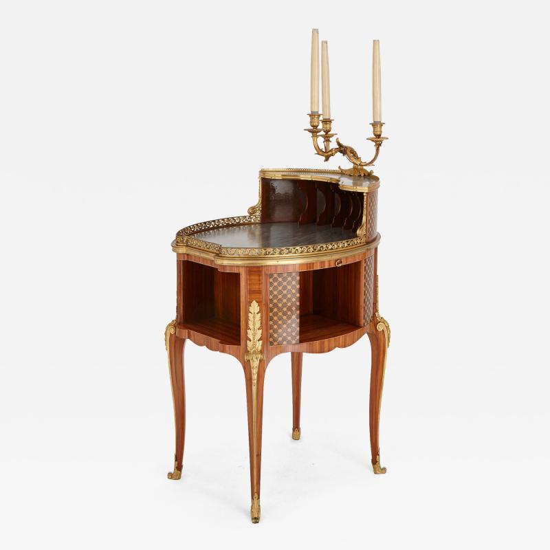 Henry Dasson Gilt bronze mounted tulipwood sycamore and marquetry writing table by Dasson