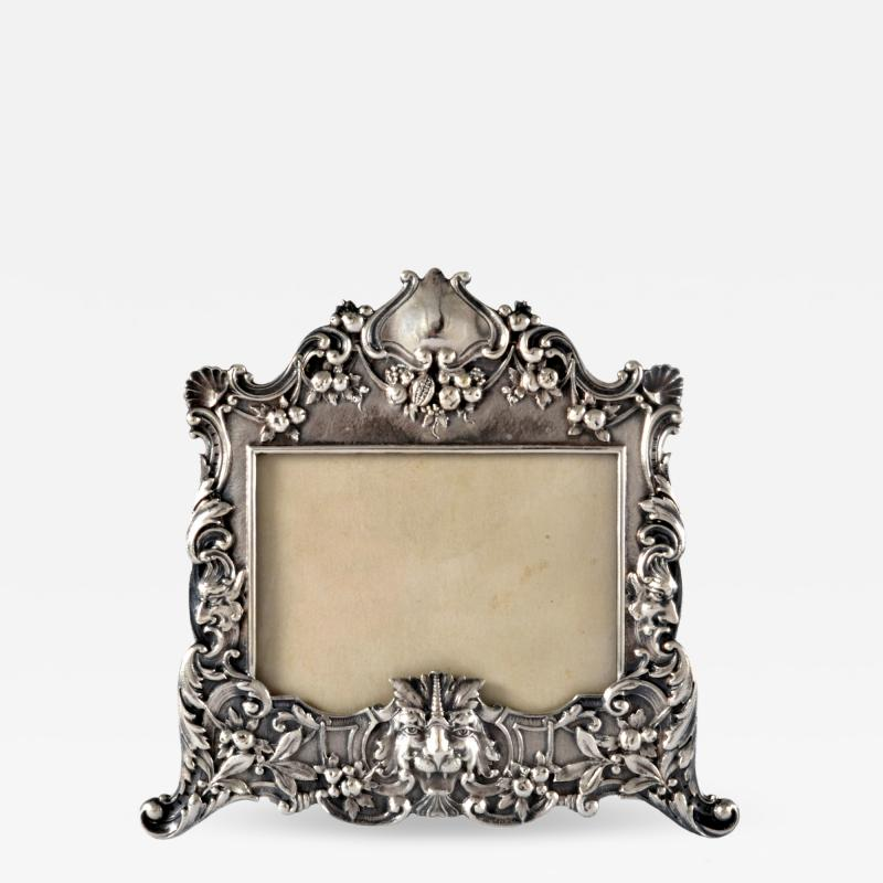 Henry Franklin Gorham Sterling Silver Picture Frame Repouss Gorham c a 1869