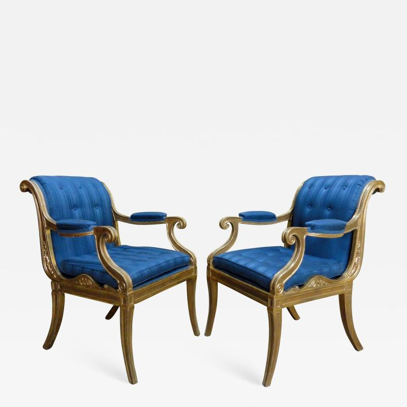 Henry Holland A Pair of Regency Giltwood Armchairs