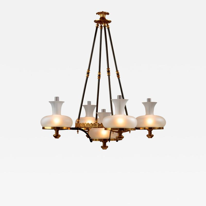 Henry N Hooper Five Burner Sinumbra Chandelier