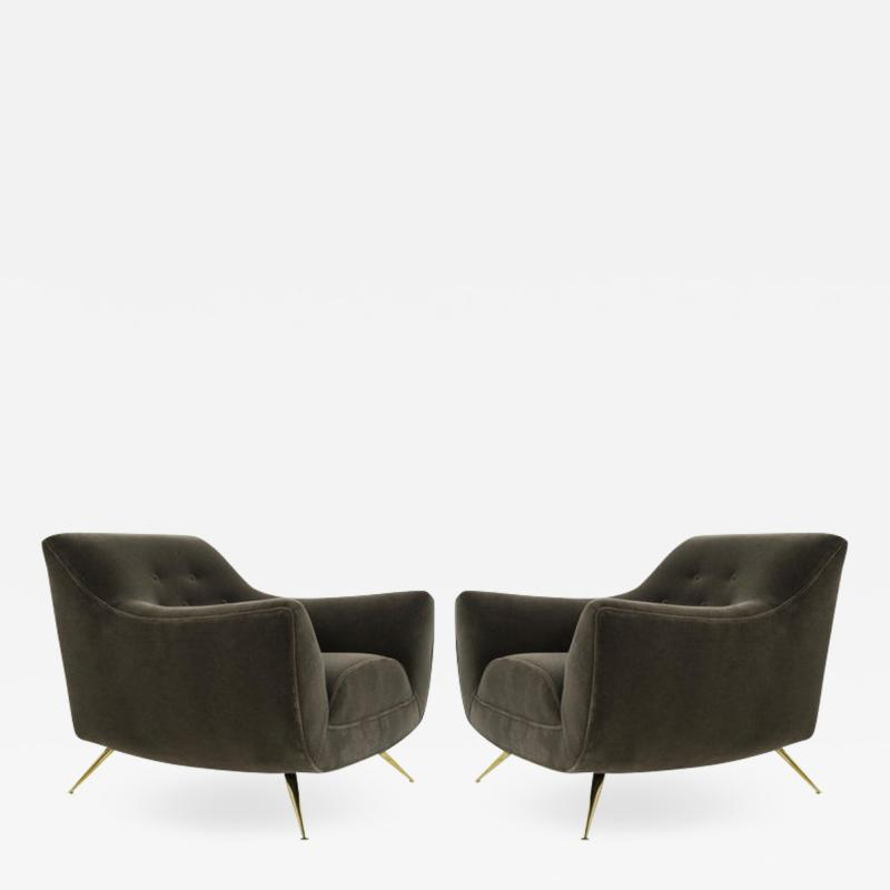 Henry P Glass Henry Glass Lounge Chairs in Mohair