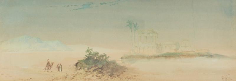 Henry Stanton 19th Century watercolour of Egypt by Henry Stanton Lynton