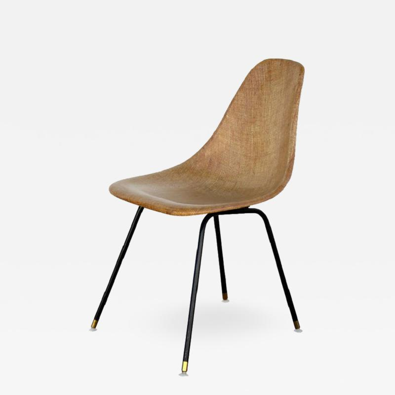 Herman Miller Single Fiberglass Encasted Fabric Mesh Chair by Eames for Herman Miller