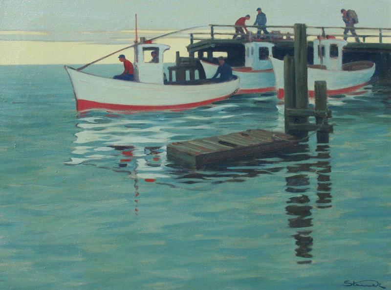 Hermann Struck By the Wharf