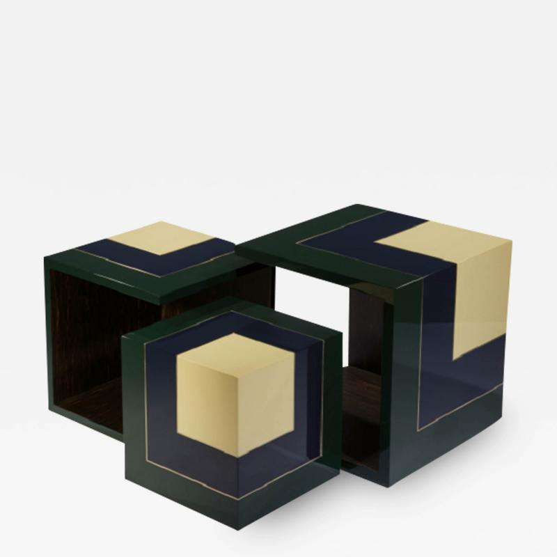Herv Langlais Pedestal Table Homage to the Cube