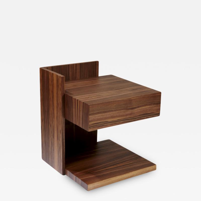Herv Langlais Wood Bedside Table