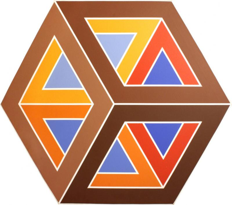 Hexagonal Graphic And Colorful Painting 1975
