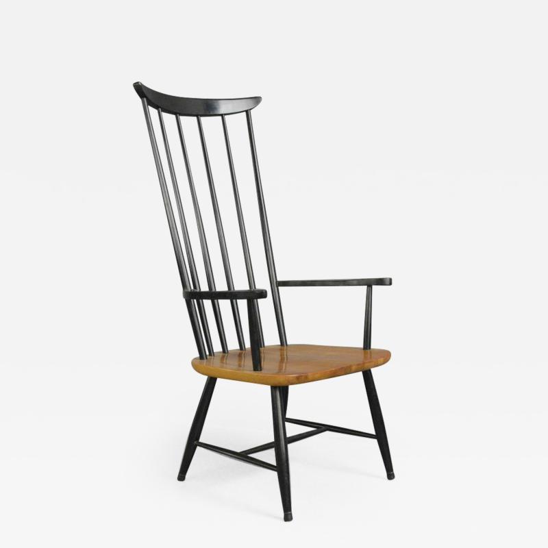 High Back Mid Century Chair By Ilmari Tapiovaara Circa 1960s