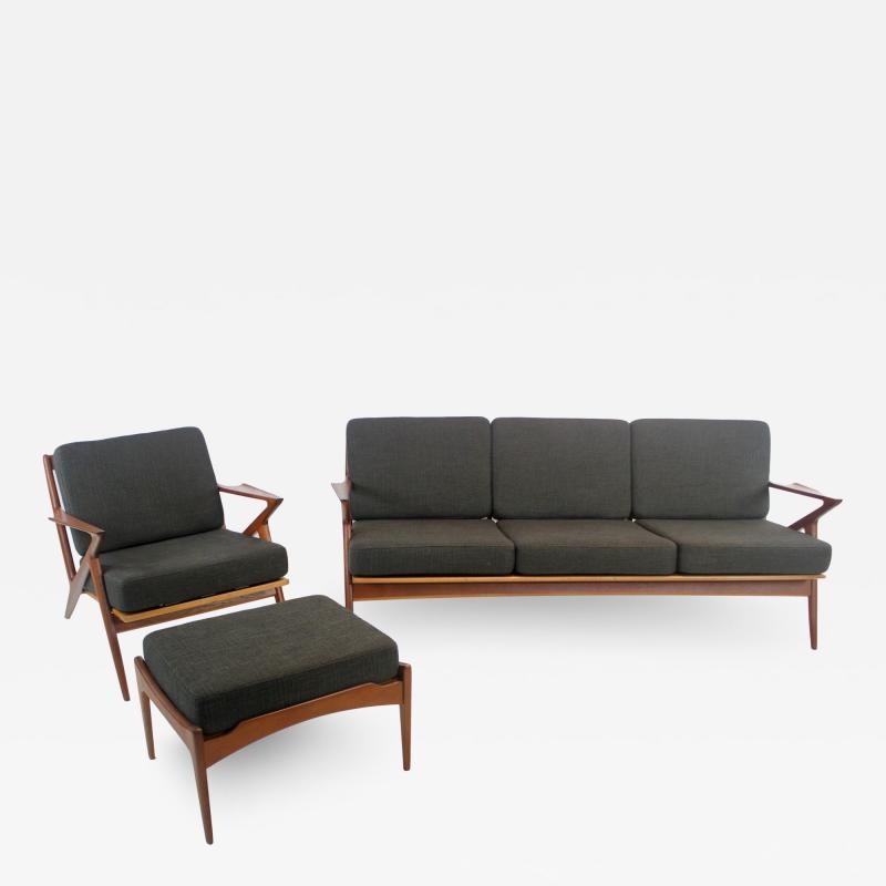 Highly Desirable Z Frame Seating Set Designed by Poul Jensen Selig