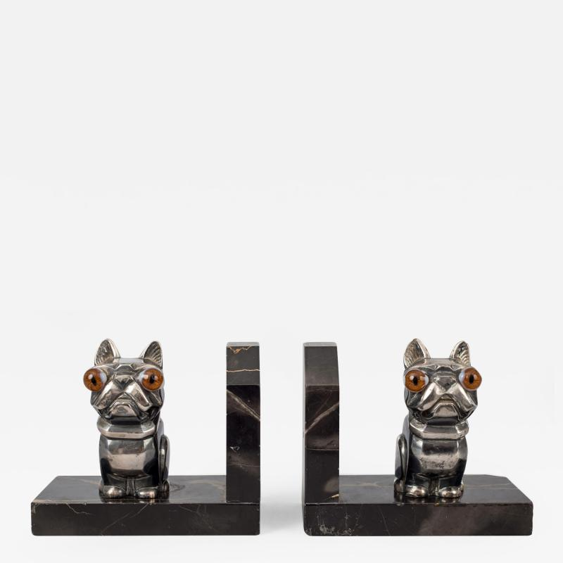Hippolyte Fran ois Moreau Pair French Art Deco Bookends By H Moreau
