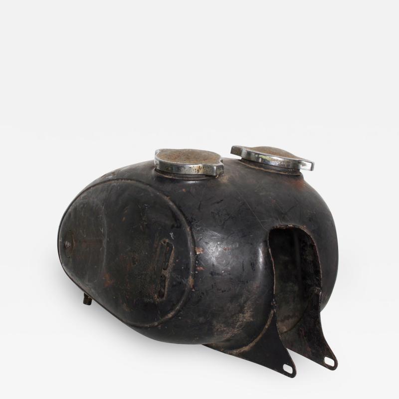 Hipster BLACK Vintage Motorcycle Gas Tank Dual Cap Mod Sportster 1960s